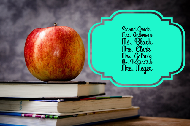 Second Grade Teachers List