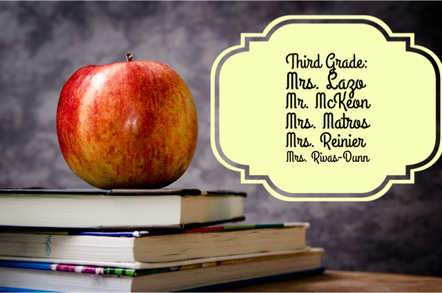 Third Grade Teachers List